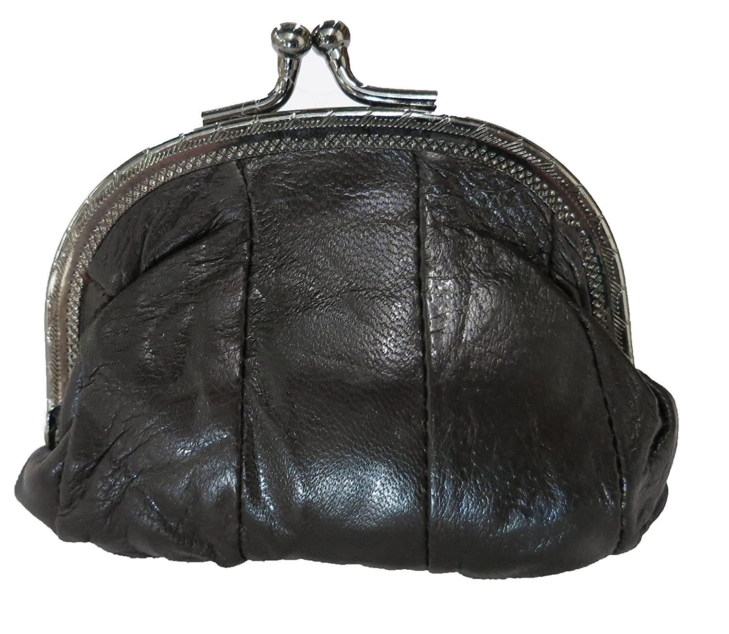 100% Leather Small Change Purse with Clasp