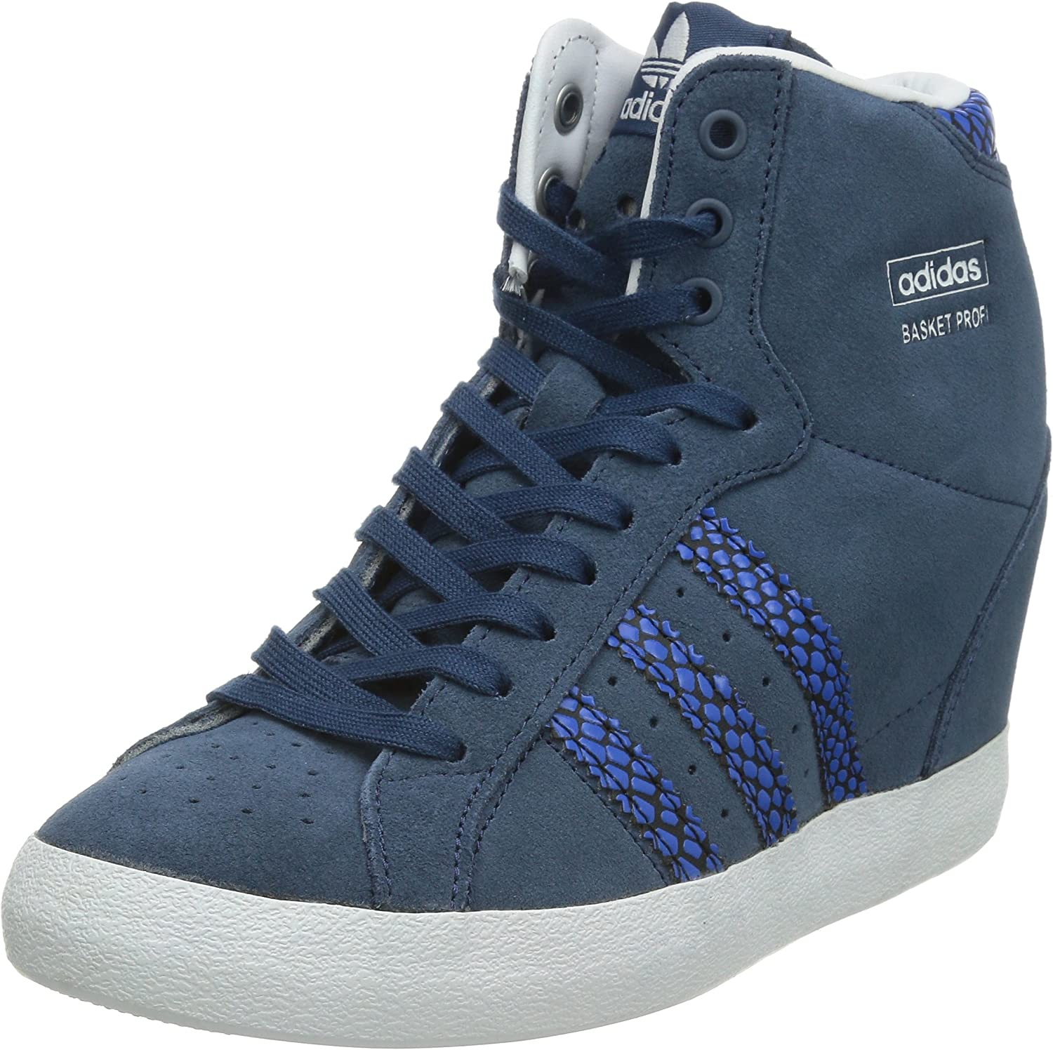 adidas Originals Adidas Basket Profi UP Chaussures Mode Sneakers Femme Cuir Suede Bleu