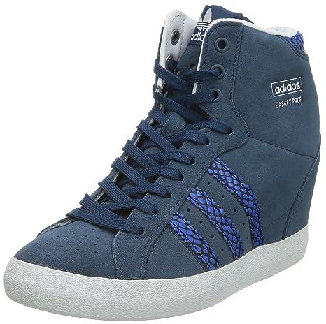 Adidas Basket Profi UP Zapatillas Sneakers Azul Cuero Gamuza para ...