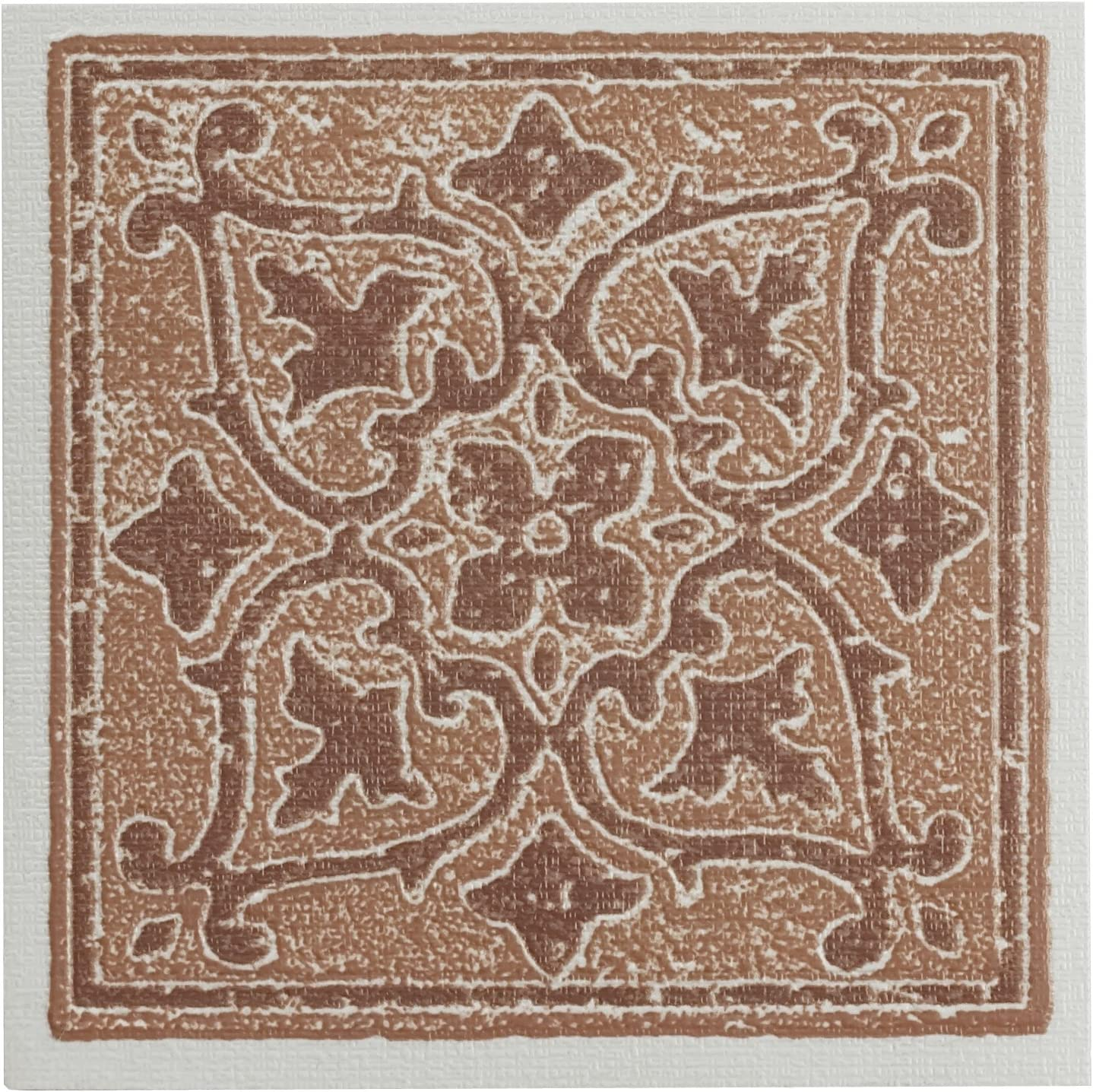 """Achim Home Furnishings WTV402AC10 Nexus Accent Wall Tile, 4 by 4-inch, Terra, 27-Pack, 4"""" x 4"""" x 1.5 mm Thick"""