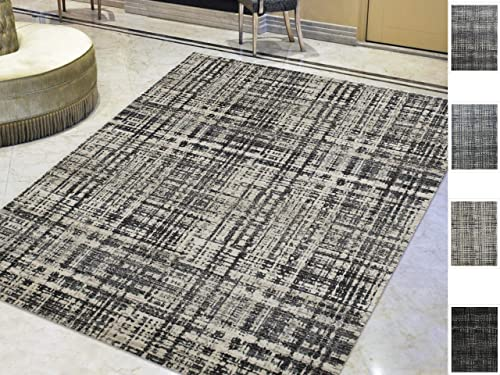 Area Rugs 8×10 Rug Home Decor Distressed Checkered Abstract Bedroom Living Room Decor Rug Gray Beige Modern Vintage Area Rug