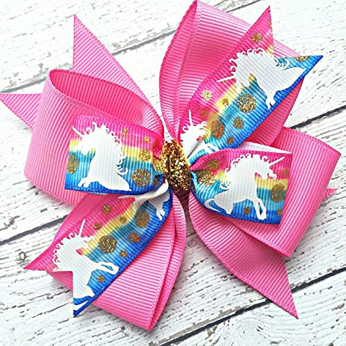 Clothes, Shoes & Accessories Symbol Of The Brand Handmade 4 Inch Hair Clip Bow Blue Red Green Stripes