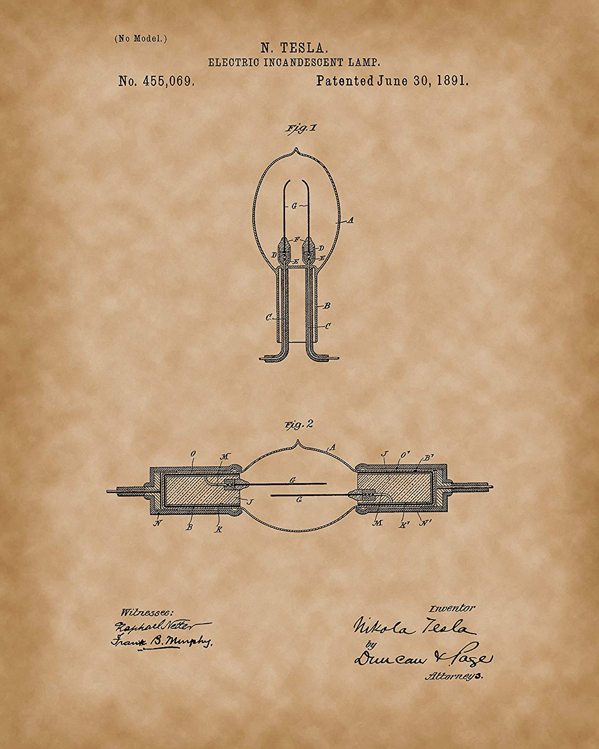 Collectibles And Video Inc Tesla Wall Art Nikola Alternating Current Diagram Dynamo Electric Machine Posters Set Of 6 Patent Prints 8x10 Old Antique Parchment Look Great