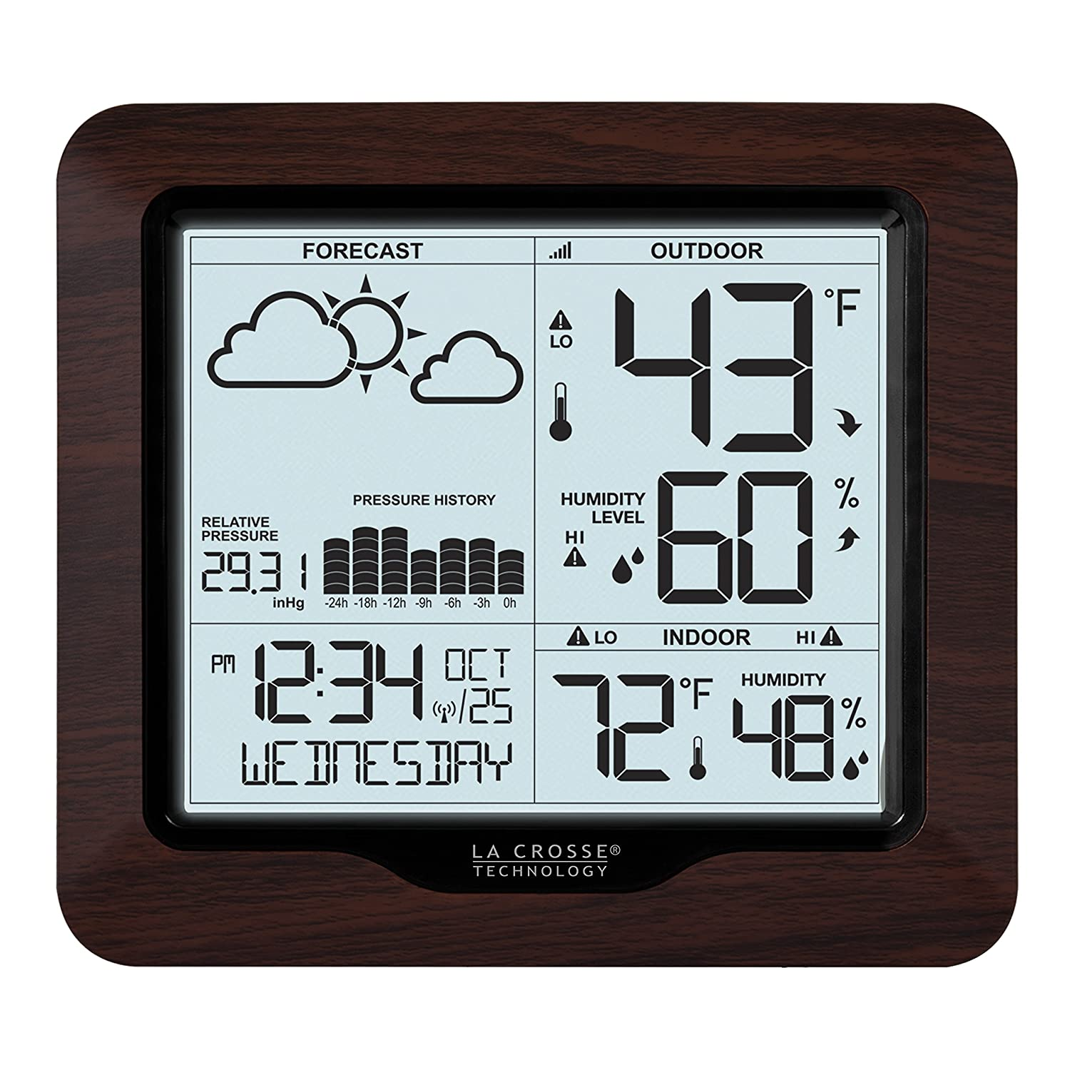 La Crosse Technology 308-1417BL Backlight Wireless Forecast Station with Pressure Ltd.