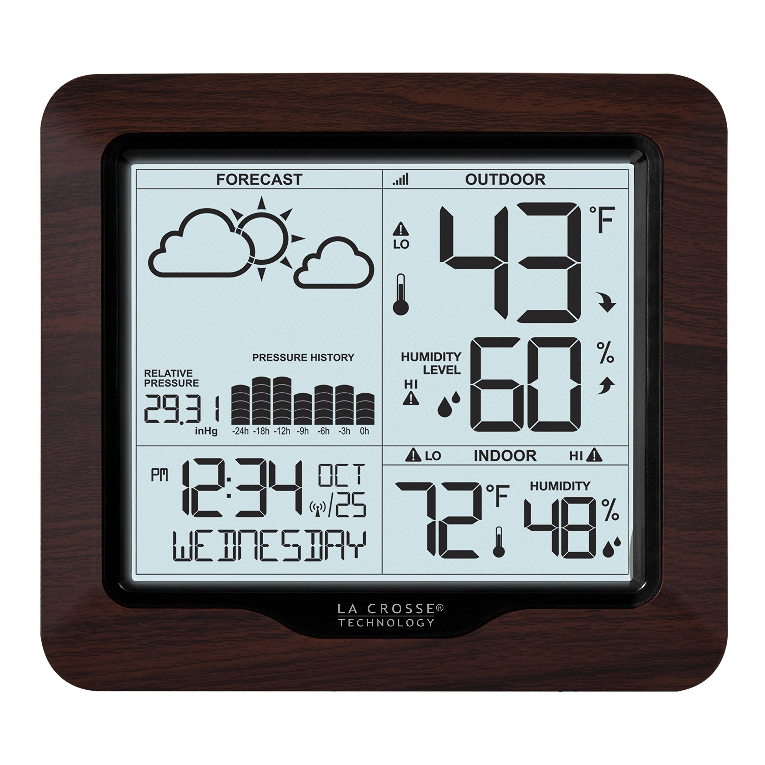 La Crosse Technology 308-1417BL Backlight Wireless Forecast Station with Pressure by La Crosse Technology