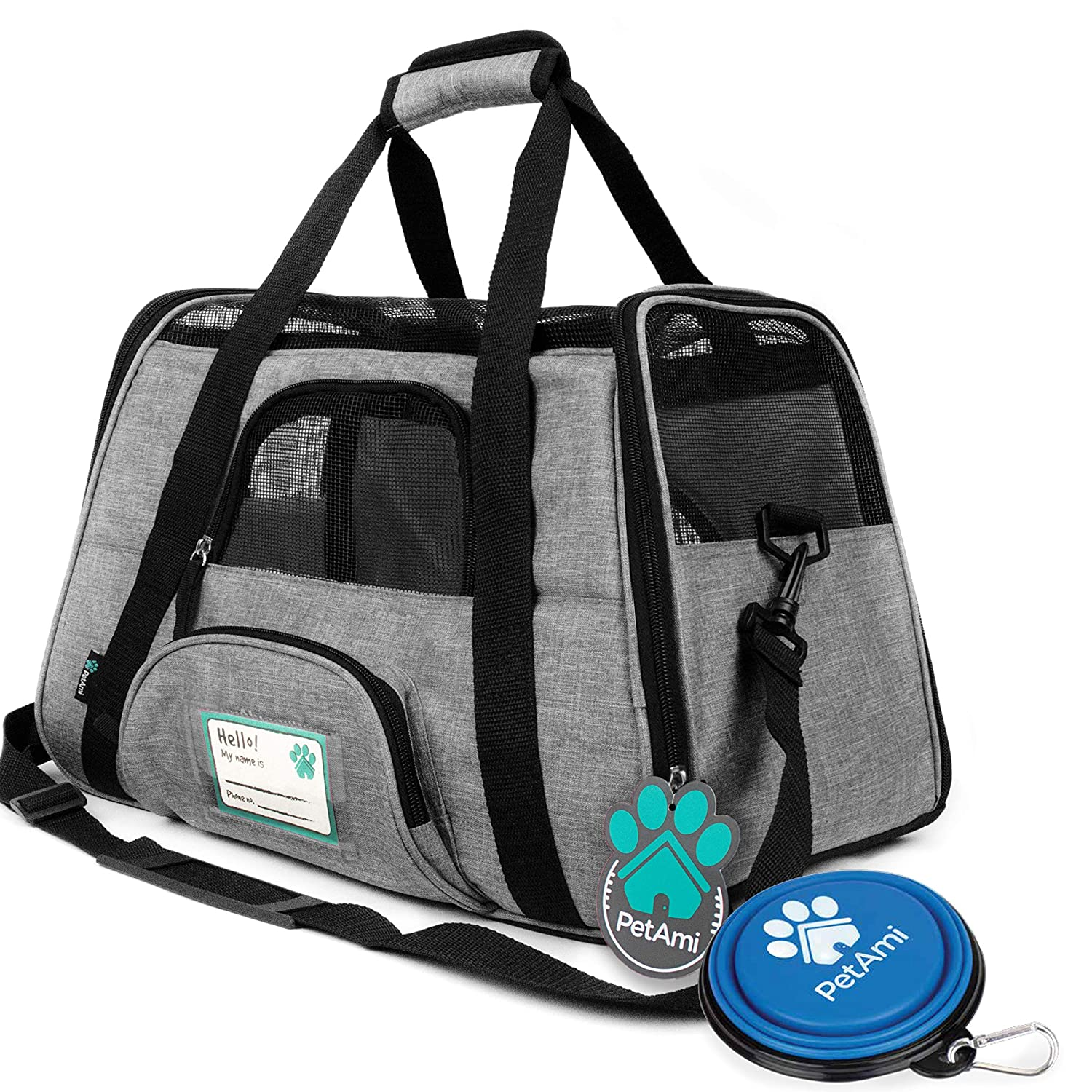 PetAmi Premium Airline Approved Soft-Sided Pet Travel Carrier