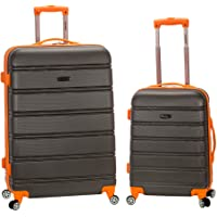 2-Piece Rockland 20/28 Inch Expandable Abs Spinner Set (Charcoal)