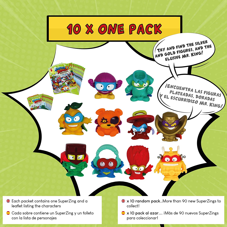 SuperZings Serie 3 - Pack Sorpresa con 17 Sets | Contiene 10 Sobres One Pack, 4 Supersliders, 2 Superbots y 1 Kaboom Blaster | Juguetes para Niños a Partir de 4 Años | Regalo Cumpleaños para Niños: Amazon.es: Juguetes y juegos