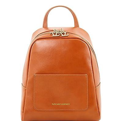 81416144 TL BAG - Kleiner Lederrucksack für Damen, Honig Tuscany Leather