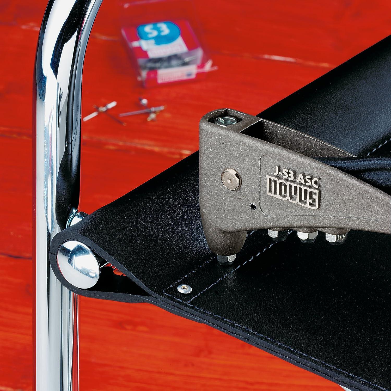 Novus Aluminium Blindnieten 6 mm /Ø 3 mm 2.5-3.5 mm Klemml/änge zur Befestigung von Stoffen und Leder 70 Nieten