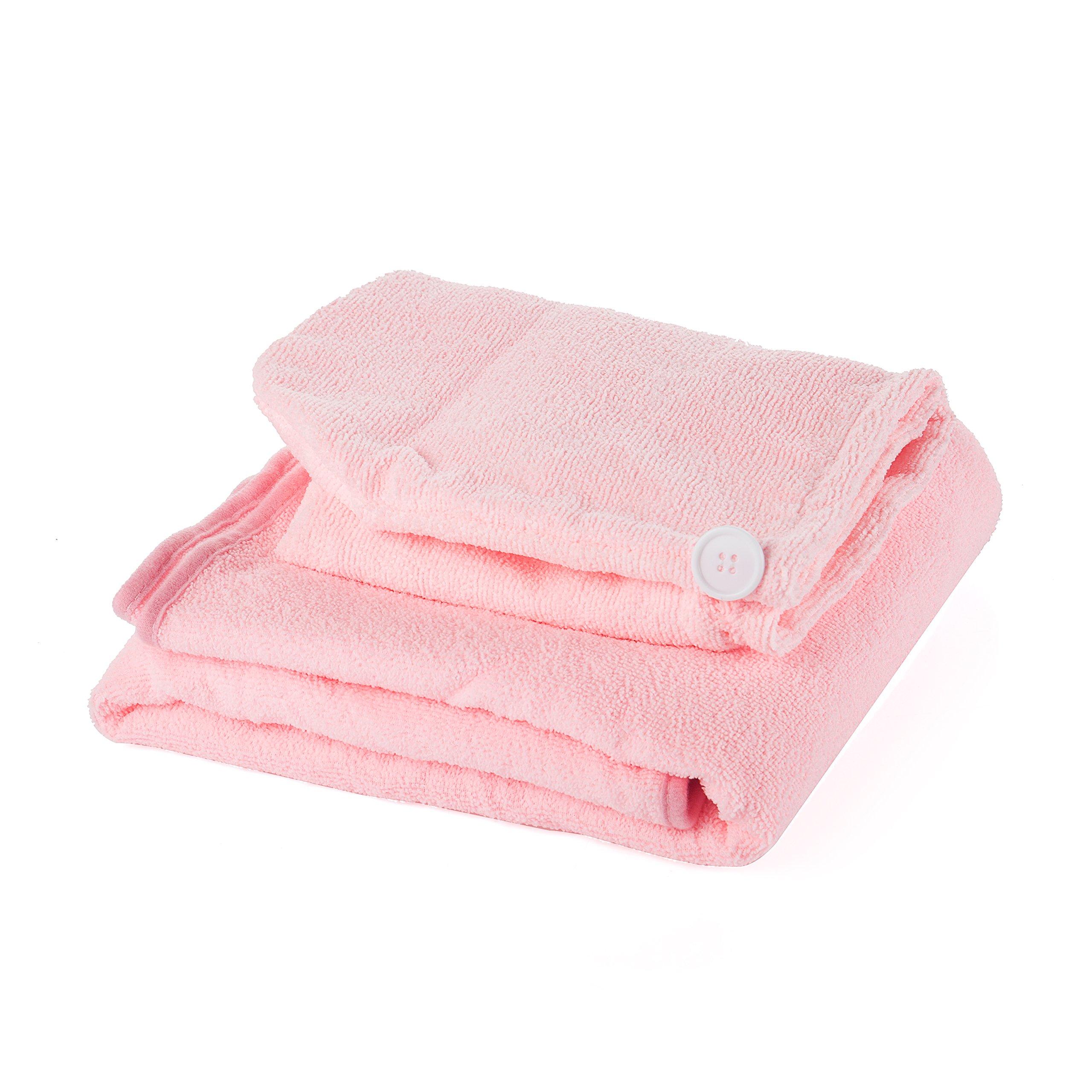 Wearable Towel Magic Bath with BathCap Towels Bath Skirt Lady Girls Wearable Sexy Soft Fast Drying Magic Sauna Spa Beach Swim Bath Towel Bathrobe Wrap (pink)