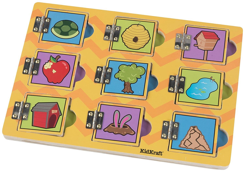 KidKraft Hide and Seek Animal Friends Puzzle, 9 Piece