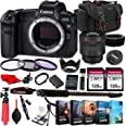Canon EOS R Mirrorless Camera with RF 85mm f/1.2L USM Lens+ 256GB Memory + Photo Editing Software + Accessory Bundle (27pcs)