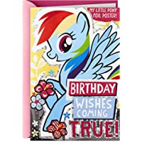 Hallmark My Little Pony Birthday Card For Kids (Foil Double Sided Poster)