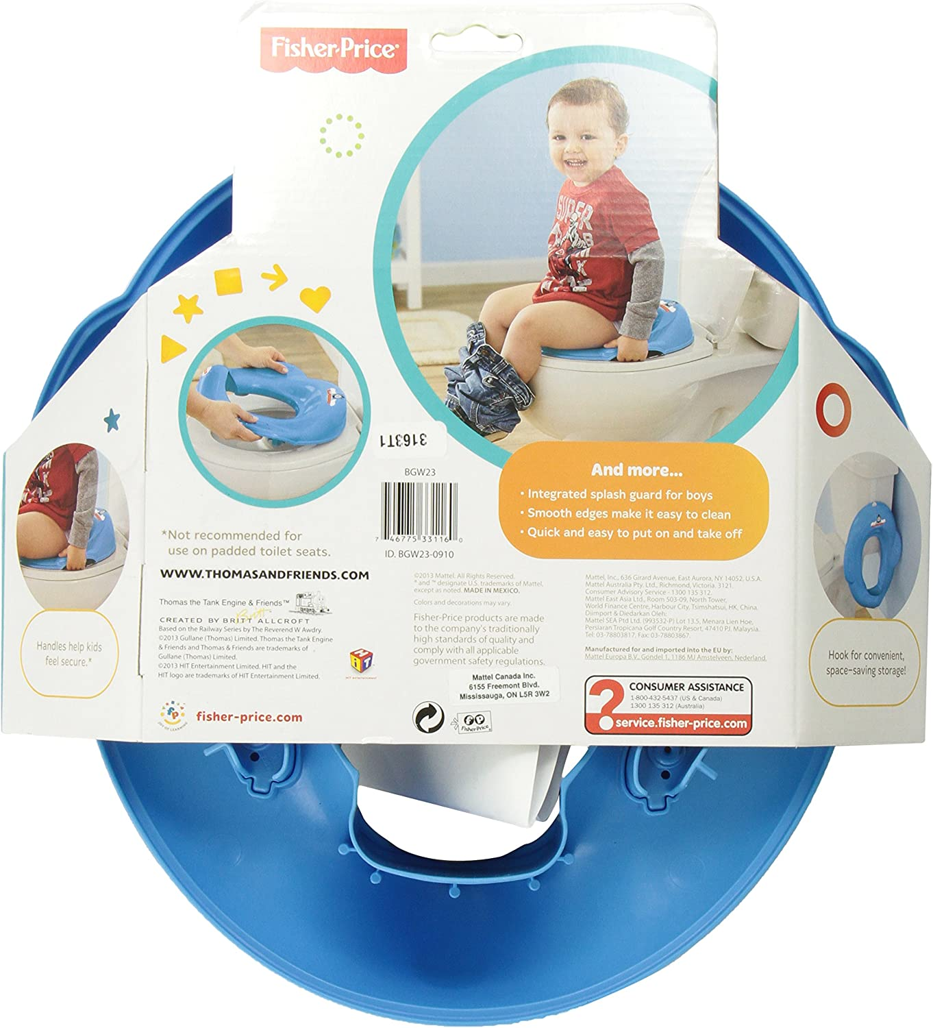 Multicolore Riduttore WC Thomas Fisher-Price Baby Gear BGW23