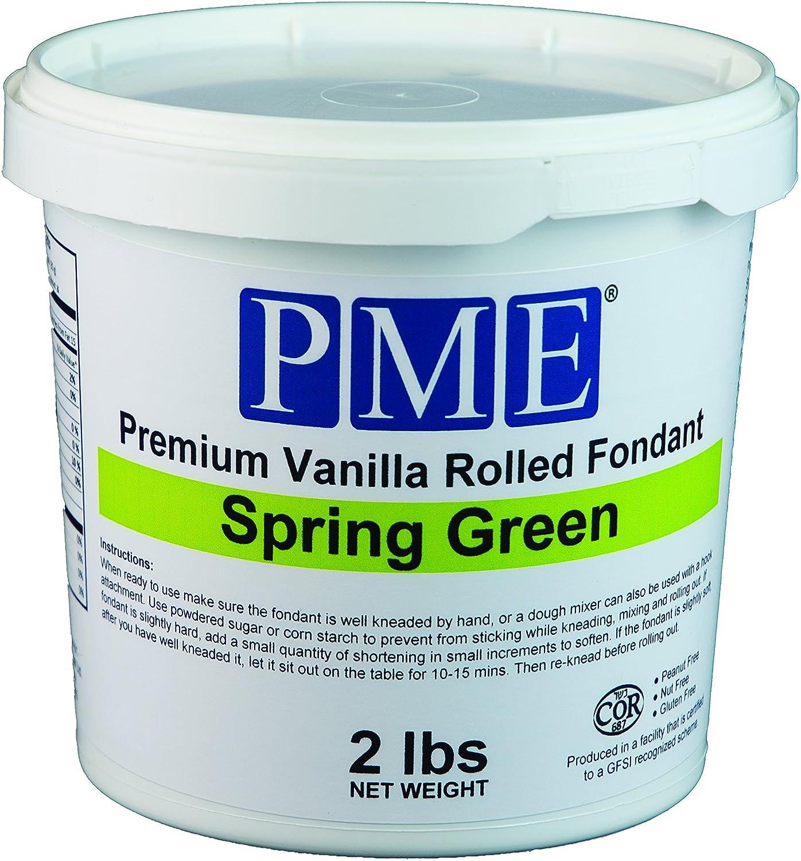 Amazon.com : PME Premium Vanilla Rolled Fondant, Spring Green, 2 ...