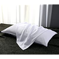 Candid Bedding Beauty Pillow Case Pair (Set of 2) Ultra Silky Soft Natural 100%...