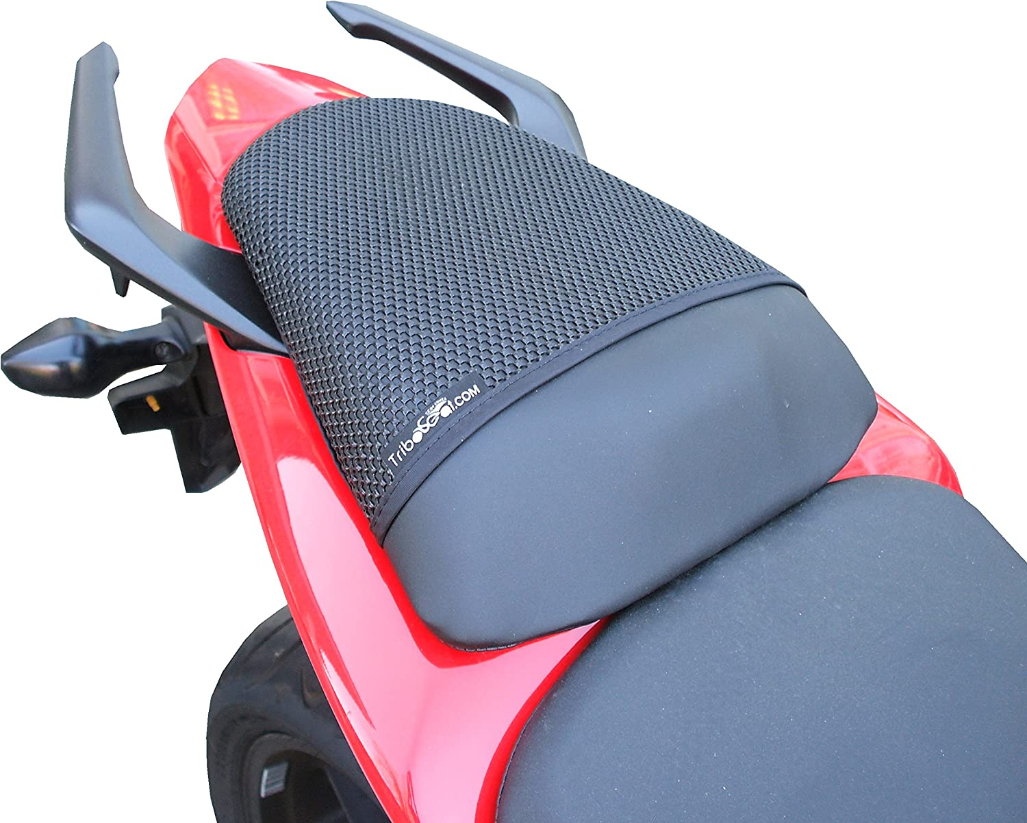 TRIBOSEAT Anti Slip Motorcycle Passenger Seat Cover Black Accessory Compatible With Honda CB500F 2016-2019