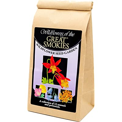 Great Smokies National Park Wildflowers - Seed Mix - a Beautiful Collection of Twelve annuals and perennials - Enjoy The Natural Beauty of Great Smokies Flowers in Your own Home Garden : Garden & Outdoor