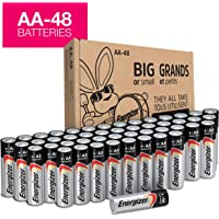 Energizer AA Batteries (48Count), Double A Max Alkaline Battery – Packaging May Vary