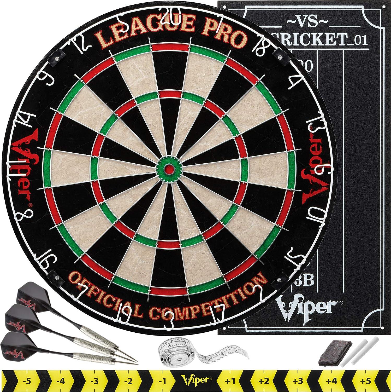 Viper League Pro Regulation Bristle Steel Tip Dartboard Starter Set