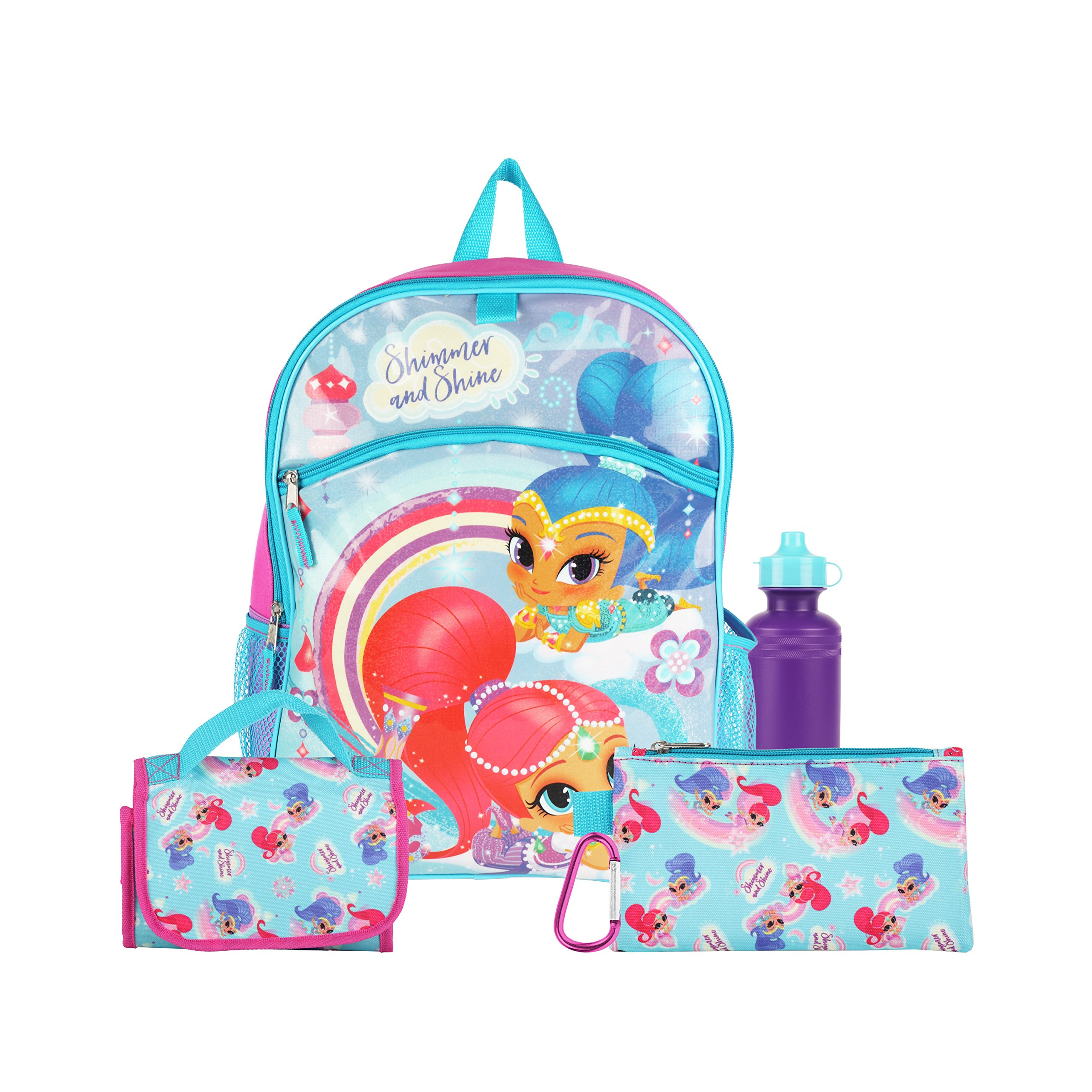 Nickelodeon Shimmer and Shine Glitter Purple Back to School Essentials Set