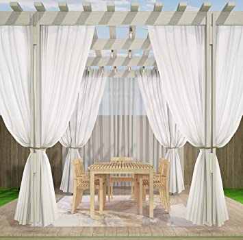RHF Outdoor Curtains Patio For Grommet White