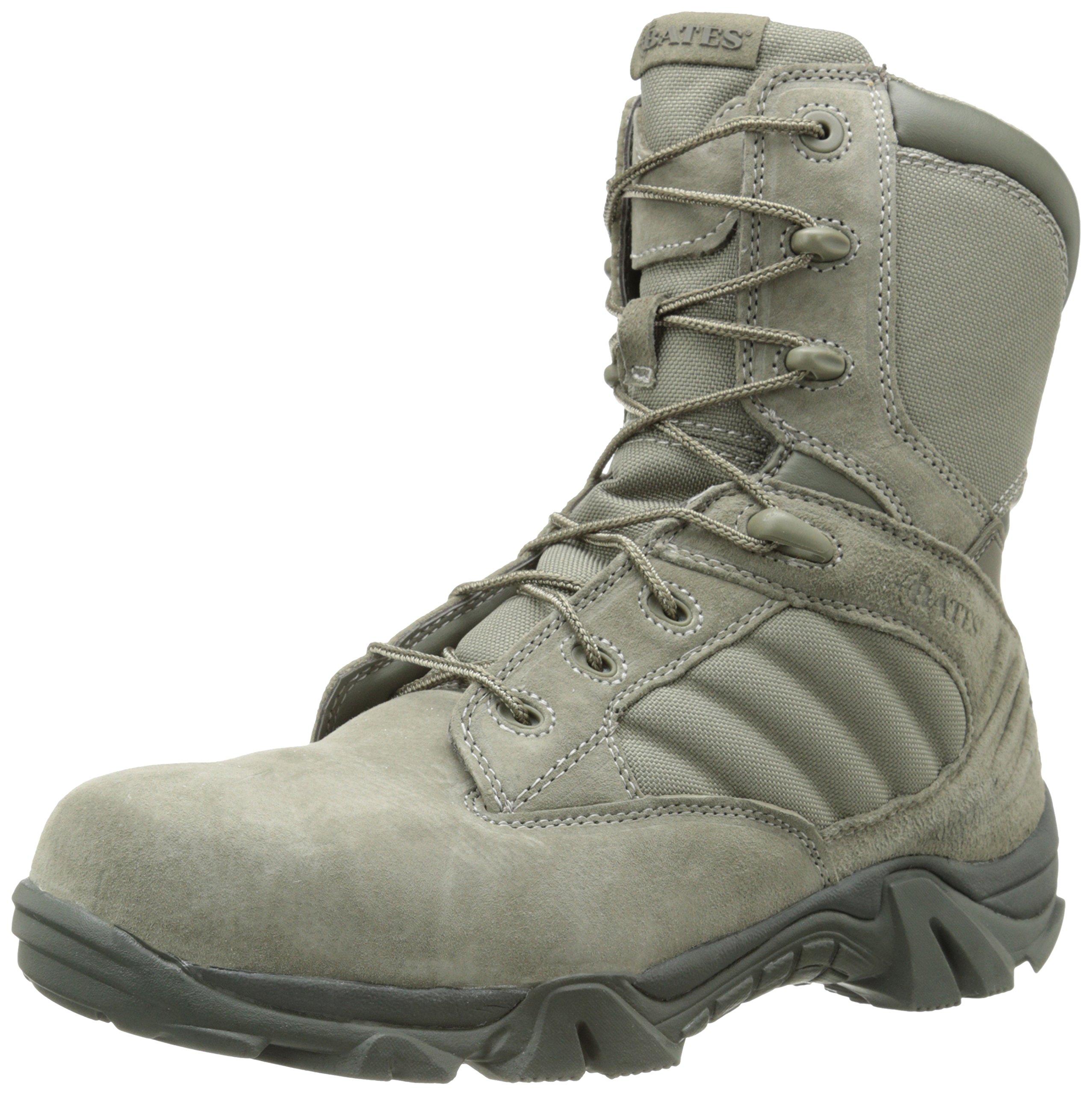 Bates Men's Gx-8 Sage 8 Inch Comp Toe Zip Uniform Boot, Sage, 12 XW US