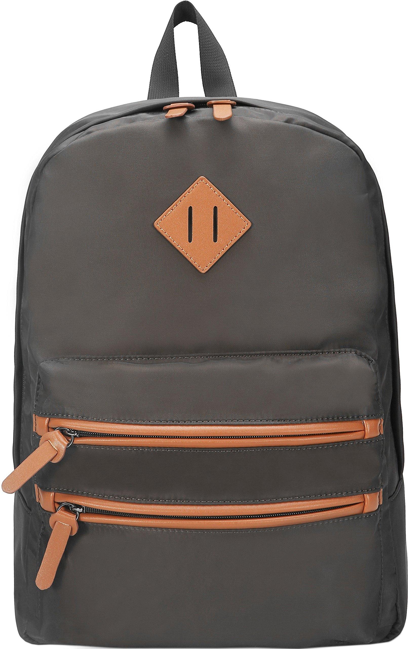 Gysan Lightweight Waterproof Travel Backpack 15 Inch Laptop for Womens Mens Boys Girls College School Bookbags, Coffee