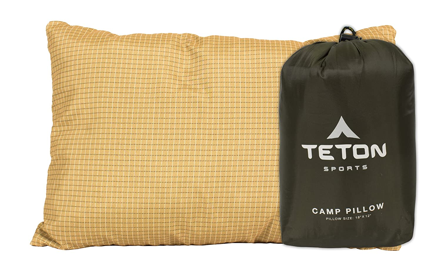 TETON Sports Camp Pillow Perfect for Camping and Travel; Free Stuff Sack Included