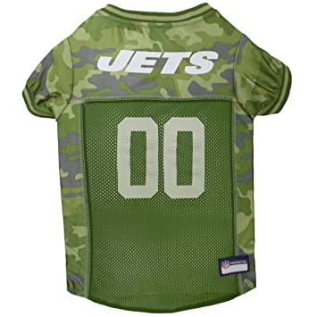 Football Dog Jersey Camouflage Available in 32 NFL Teams   5 Sizes. Cuttest  Hunting Dog Dress! Camouflage Pet Jersey with Team Logo. by Pets First 901c2af32
