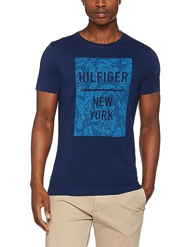 Tommy Hilfiger Baxter C-NK TEE S/S RF, Cinturón para Mujer, Marrón (Medieval Blue), Medium