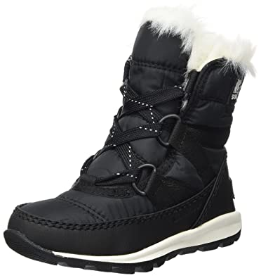 Sorel Children's Whitney Short Lace, Bottes de Neige Fille, Noir (Black/Sea Salt), 29 EU