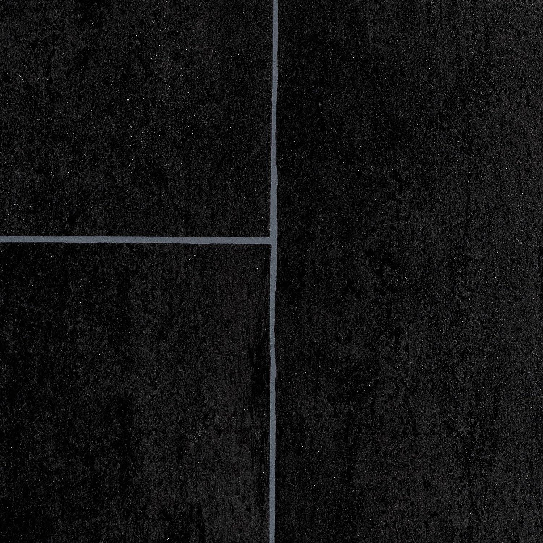 300 400 cm breit BODENMEISTER BM70518 Vinylboden PVC Bodenbelag Meterware 200 Fliesenoptik anthrazit schwarz