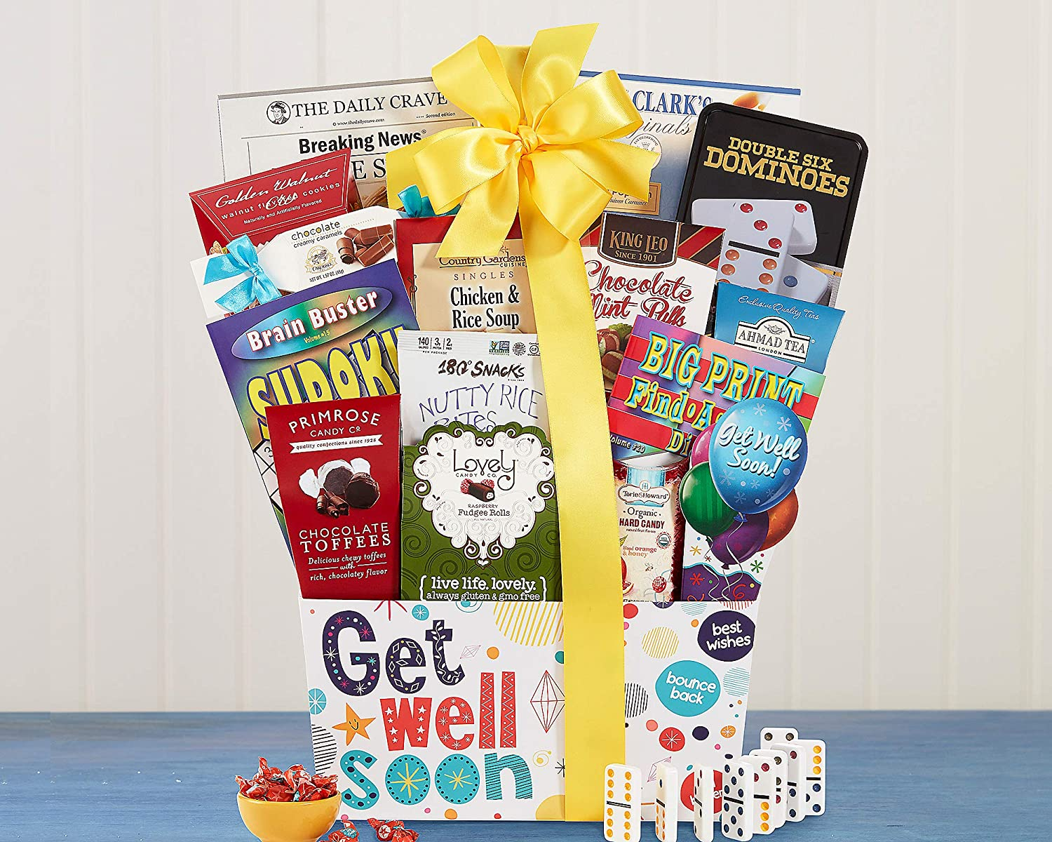 42009d6cb2e Get Well Soon Care Package Gift Basket A Positive Thoughful Inspirational Gift  Idea Great for After Surgery.  Amazon.com  Grocery   Gourmet Food