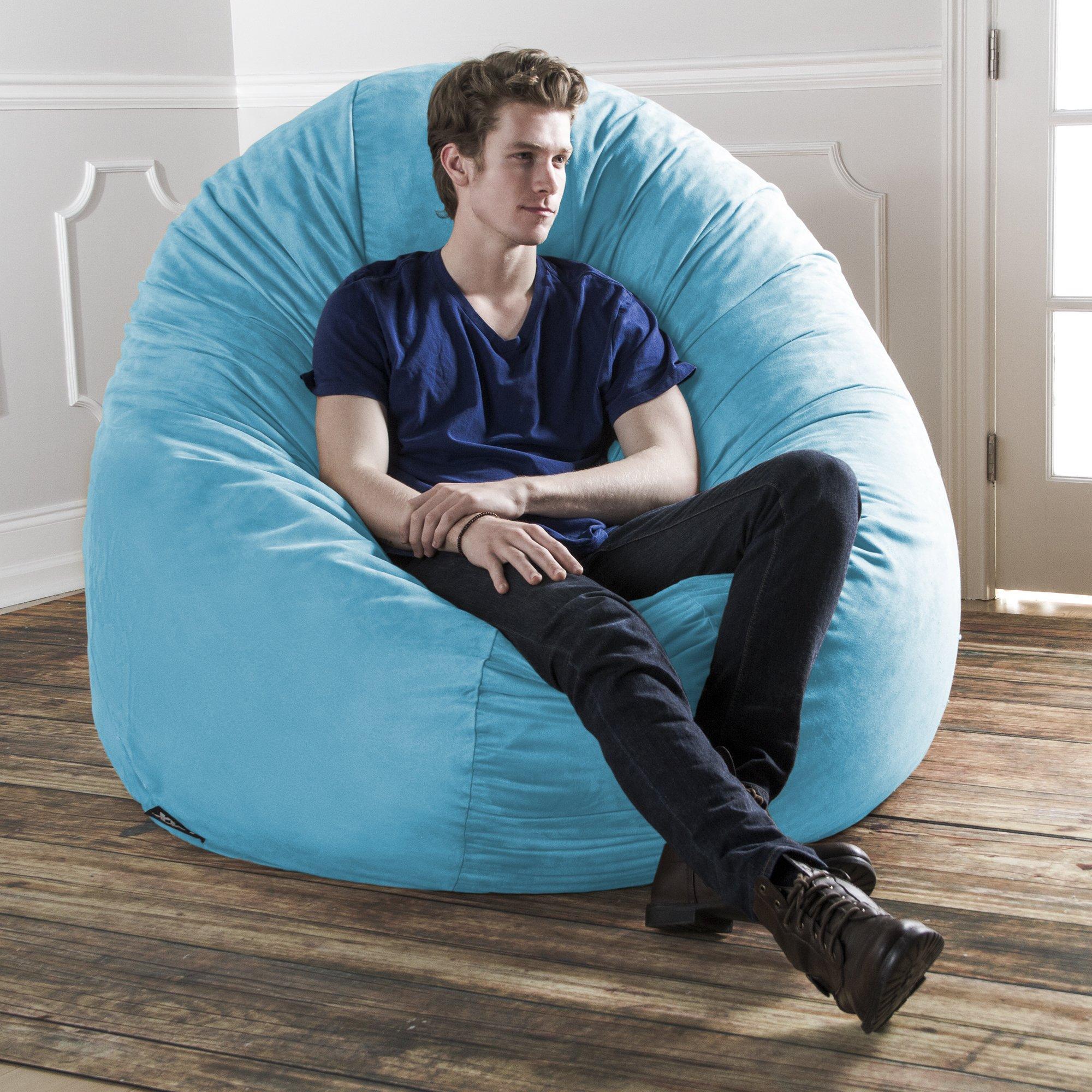 Jaxx 6 Foot Cocoon - Large Bean Bag Chair for Adults, Aqua