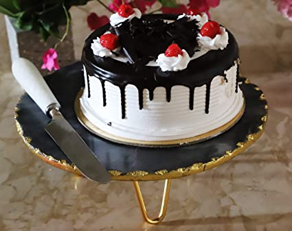 Buy Nikkispride Handmade Marble Black Cake Stand Large Size 12inchx12nch X 4 5inch Online At Low Prices In India Amazon In