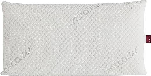 Belnou Almohada con Núcleo Viscogel, Algodón, Blanco, 150x48x20 cm ...
