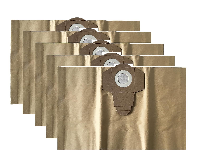 5Sacchetti per aspirapolvere/Cattura Sporco Sacco/sacchetti per aspirapolvere adatto per Lavor asciutto bagnato aspirapolvere 20litri Grizzly