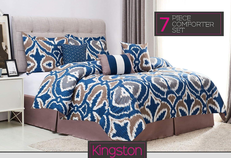 SALLY TEXTILES Kingston Queen Printed Comforter Set Multicolored