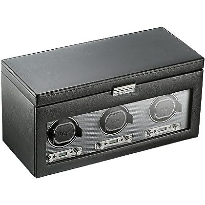 WOLF 456302 Viceroy Triple Watch Winder with Storage