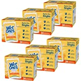 Wet Ones Antibacterial Hand & Face wipes, Citrus Scent Singles, 24 Count, Pack Of 6