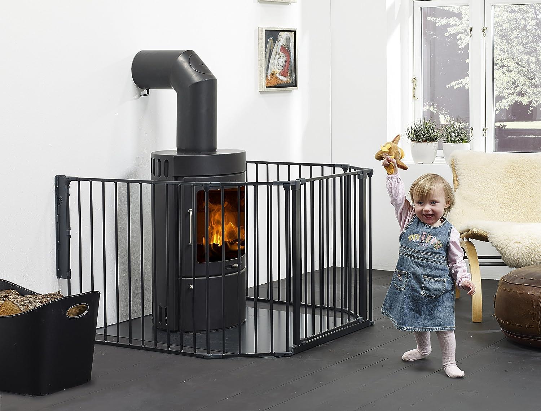 BabyDan Barrière Extension Large Flex Noir ( l x H: 72 x 71 cm) 67256-2600-12-75
