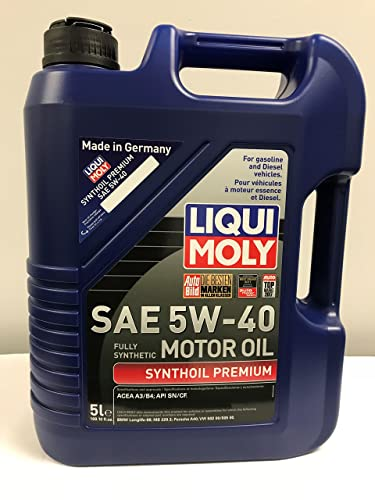 3. Liqui Moly 2041 Premium 5W-40 Synthetic Motor Oil