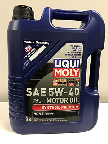 Liqui Moly (2041-4PK Premium 5W-40 Synthetic Motor Oil - 5 Liter, (Pack of  4)