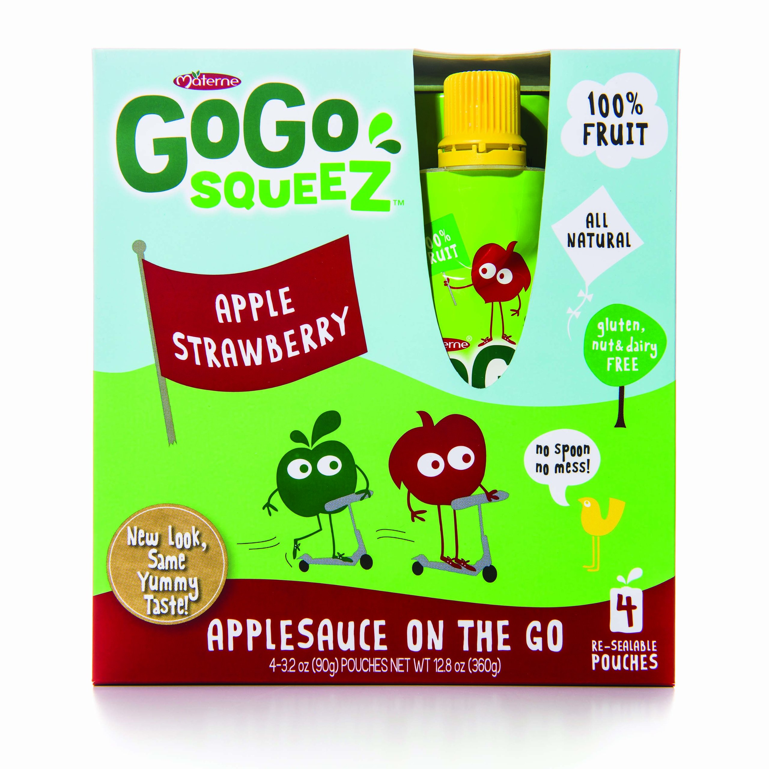 Gogo Squeez Applesauce on the Go Applestrawberry Baby Food - 4 Pack