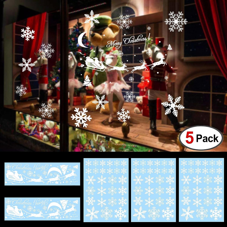 Amazoncom 144Designs Snowflake Window Clings Stickers For Christmas Decorations, Konsait