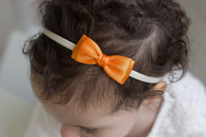 Baby to Adult Headband Girls Headband Gold and Ivory Olivia Satin Bow Handmade Headband Olivia Baby Bow Headband