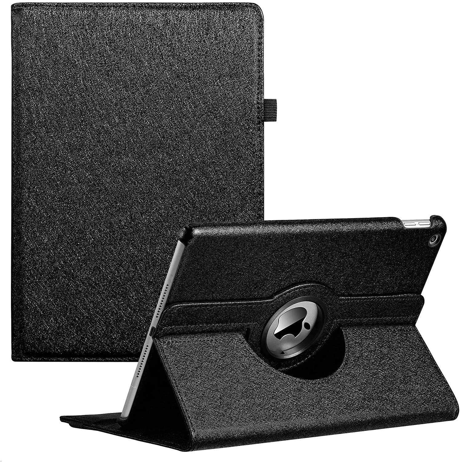 iPad Case Fit 2018/2017 iPad 9.7 6th/5th Generation - 360 Degree Rotating iPad Air Case Cover with Auto Wake/Sleep Compatible with Apple iPad 9.7 Inch 2018/2017 (Black)