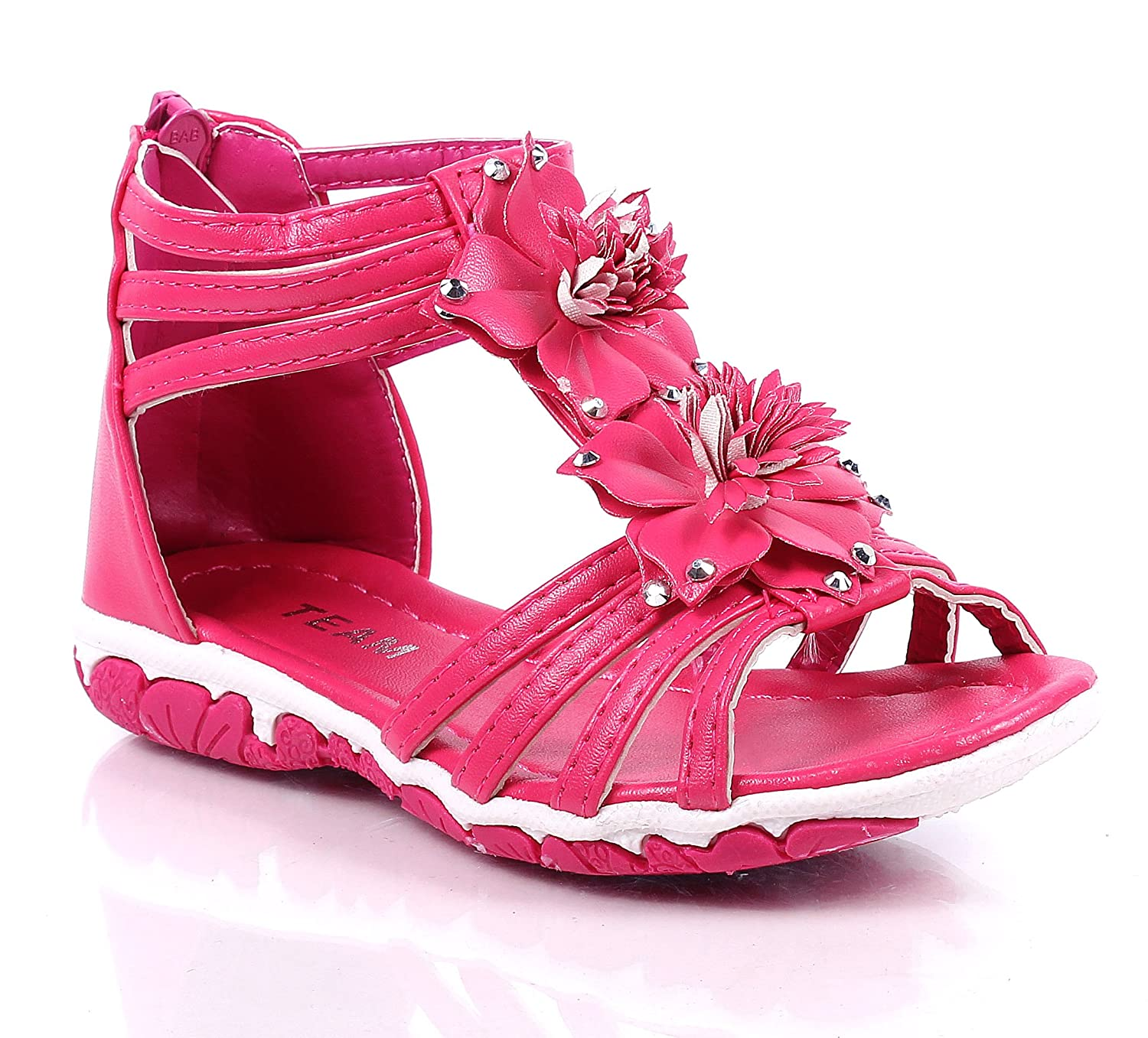 Other Cute Slip on Flowers Back Zip Open Toddlers Casual Kids Girls Flats Infant Sandals New Without Box